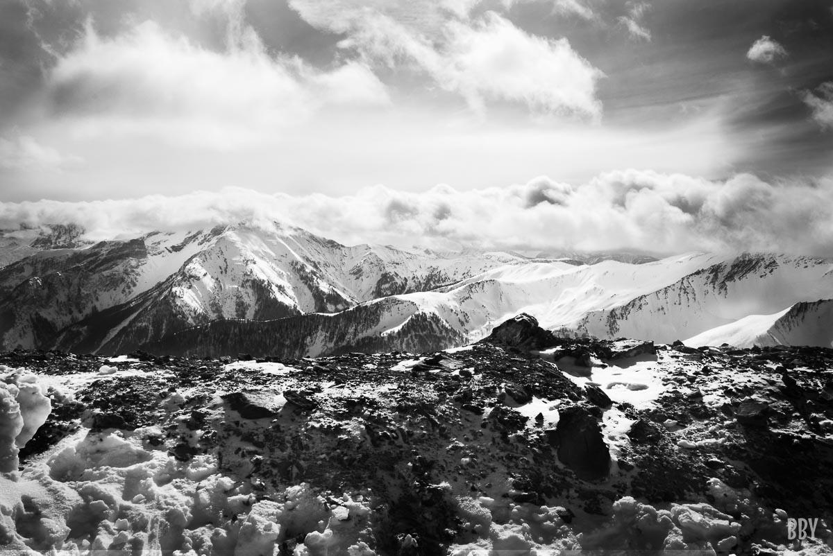 montagne, neige, Passage non obligé, travaux photo
