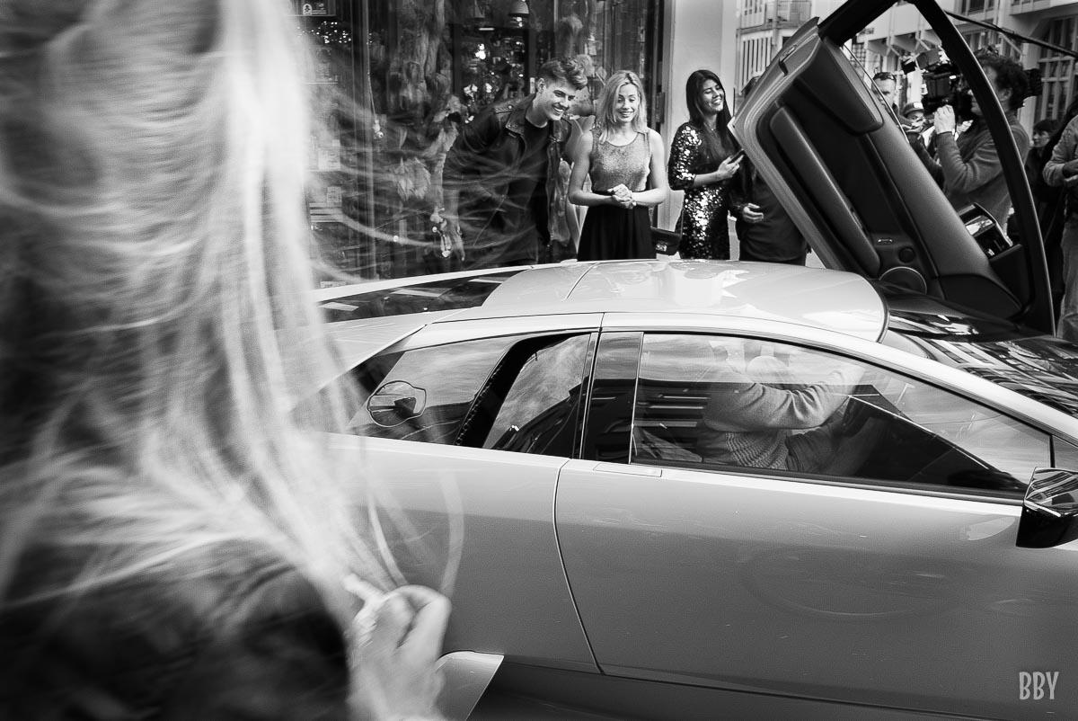 voiture, jet set, blonde, media, show biz, Passage non obligé, travaux photo
