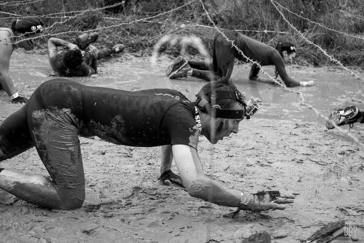 Spartan, boue, sport extrème,  Marionnaud