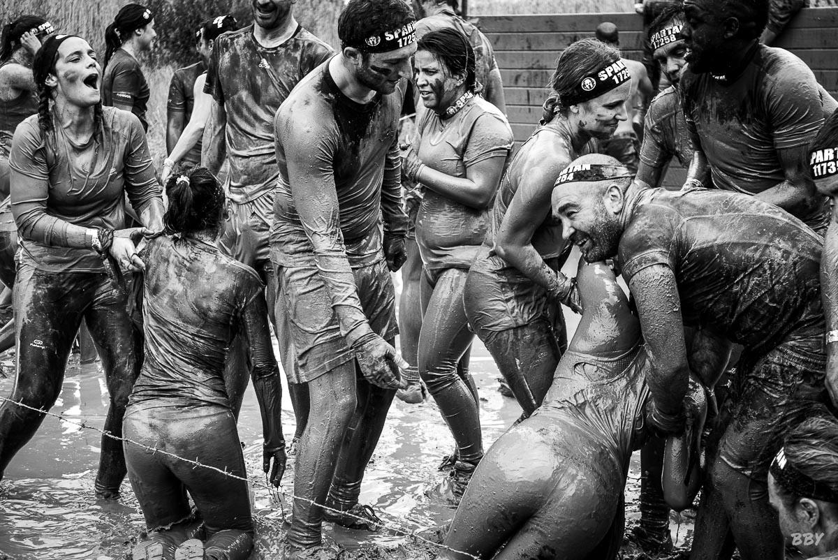 Marionnaud, Spartan, boue, entraide, joie, groupe sport extrème